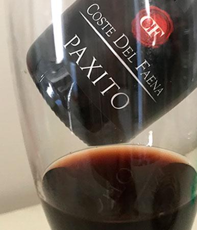 Paxito vino coste del faena