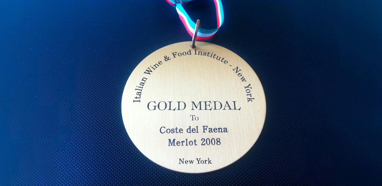 Medaglia d'oro – Coste del Faena Merlot 2008
